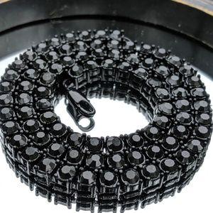 "🔱20"" Black🔱Zinc Plated 5mm Tennis Chain"
